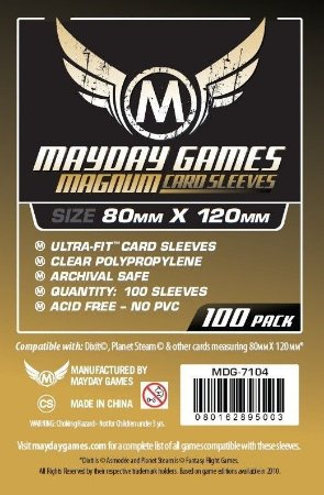 Sleeves Mayday - Magnum Gold 80x120mm c/100
