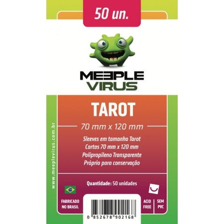 Sleeves Meeple Virus - Tarot 70x120mm c/50