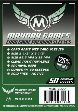 Sleeves Mayday - Card Game PREMIUM 63.5x88mm c/50