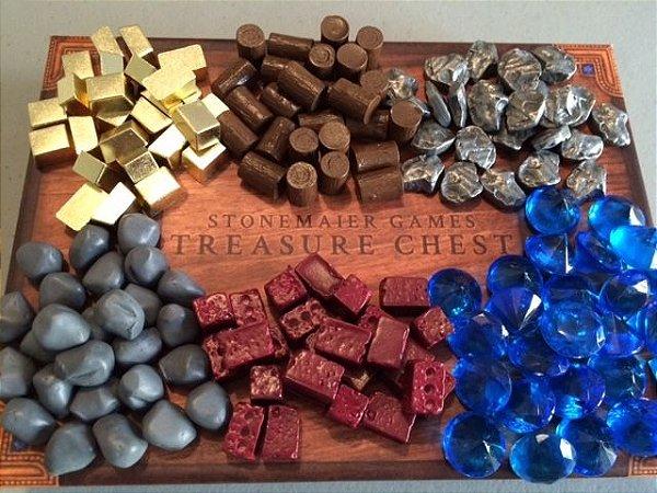 Treasure Chest - caixa de tesouros com peças reais para substituir nos boardgames