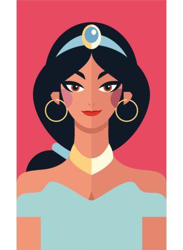 Ímã - Jasmine - Princesas da Disney