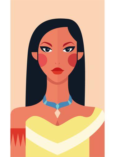 Ímã - Pocahontas - Princesas da Disney