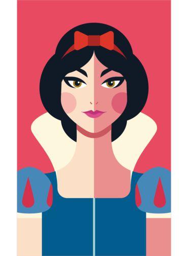 Ímã - Branca de Neve - Princesas da Disney