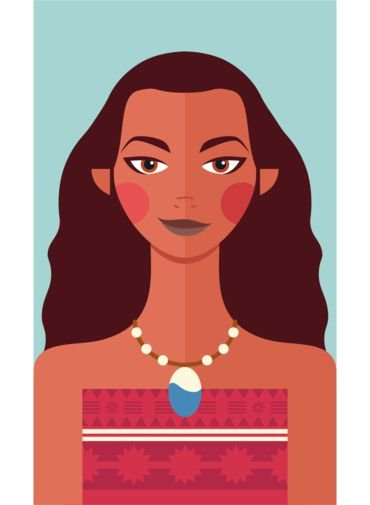 Ímã - Moana- Princesas da Disney