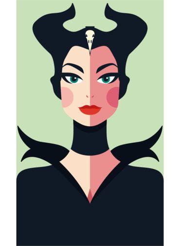 Ímã - Malévola - Princesas da Disney