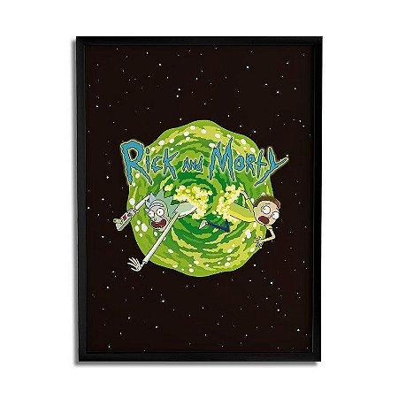 Quadro Decorativo Rick and Morty - Portal 30x20