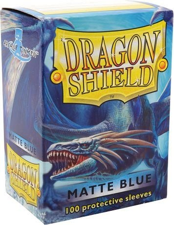 Sleeves Dragon Shield Matte Blue 63 x 88 mm – com 100 (Standard Size) - para Magic the Gathering