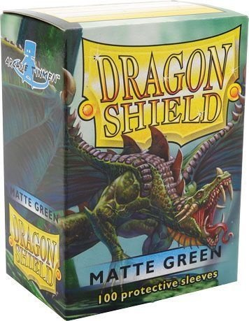 Sleeves Dragon Shield Matte Green 63 x 88 mm – com 100 (Standard Size) - para Magic the Gathering