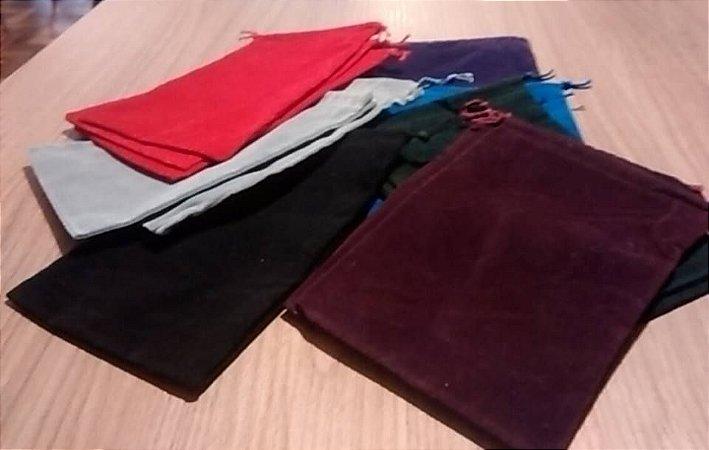 Dice Bag/Token Bag - Saco de Veludo 19 x 12 cm - Várias Cores