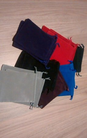 Dice Bag/Token Bag - Saco de Veludo 14 x 10 cm - Várias Cores