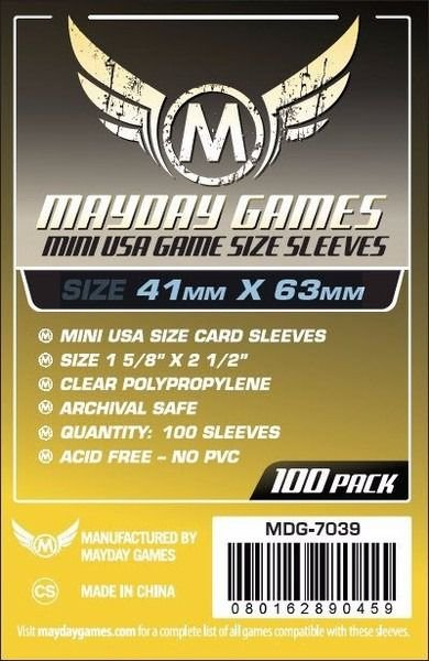 Sleeves Mayday - Mini USA 41x63mm c/100