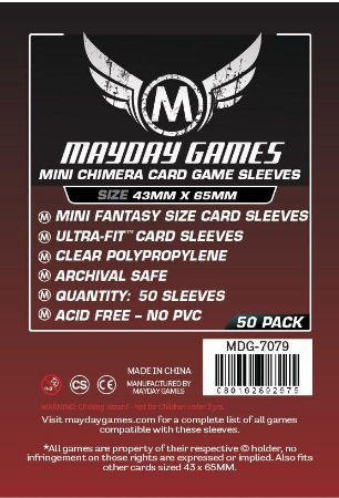 Sleeves Mayday - Mini Chimera PREMIUM 43x65mm c/50