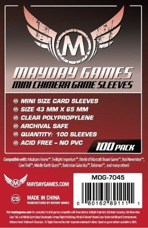 Sleeves Mayday 43x65mm - Mini Chimera - para Catan e outros