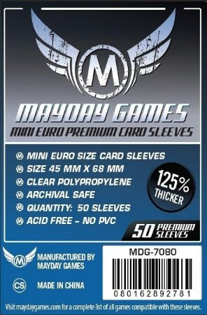Sleeves Mayday - Mini Euro PREMIUM 45x68mm c/50