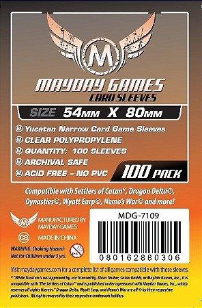Sleeves Mayday 54x80mm - Yucatan Narrow - Com 100 unidades