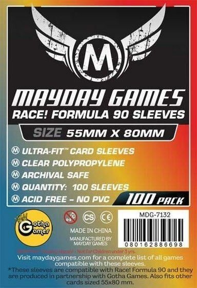 Sleeves Mayday - Race! Formula 90 55x80mm c/100