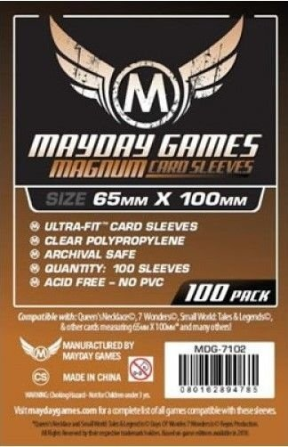 Sleeves Mayday - Magnum Copper 65x100mm c/100