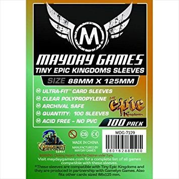 Sleeves Mayday 88x125mm - para Tiny Epic e Black Stories Com 100 Un