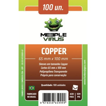 Sleeves Meeple Virus - Copper 65x100mm c/100