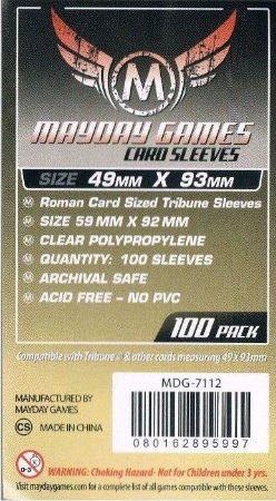 Sleeves Mayday - Tribune 49x93mm c/100
