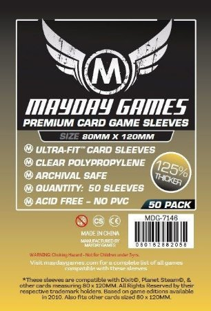 Sleeves Mayday - Magnum Gold PREMIUM 80x120mm c/50