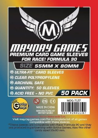 Sleeves Mayday - Race! Formula 90 PREMIUM 55x80mm c/50