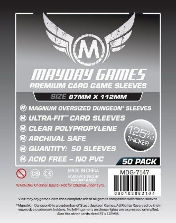 Sleeves Mayday - Magnum Oversized PREMIUM 87x112mm c/50