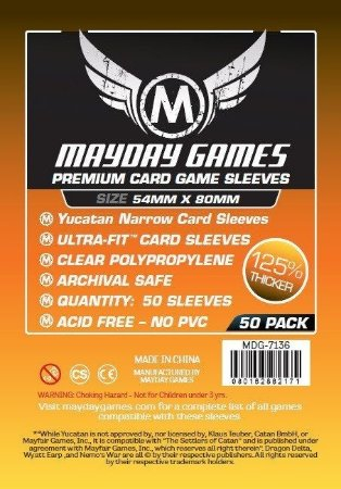 Sleeves Mayday - Yucatan Narrow PREMIUM 54x80mm c/50