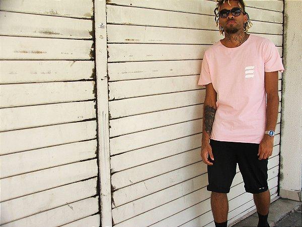 "Camiseta Básica Rosa ""Logo Manual"""