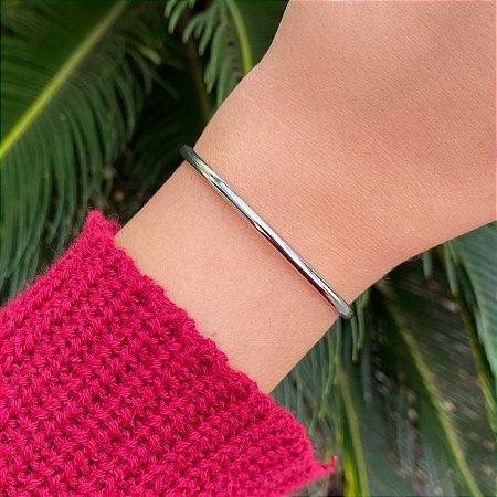 Pulseira bracelete metal liso