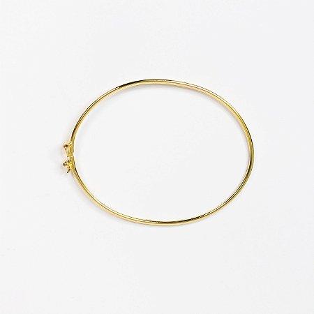 Bracelete oval liso rígido