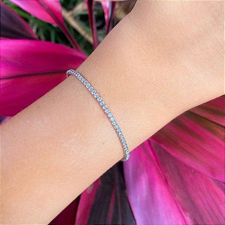 Bracelete cravejado zirconias cristais