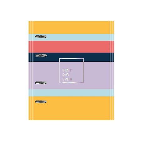 Caderno Argolado Fichário Ótima Gráfica FC167 Allegro Listras 21x25cm 5119-8