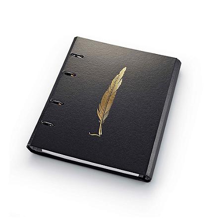 Caderno Argolado Fichário Ótima Gráfica FC177 Noir Pena 21x25cm 4634-7