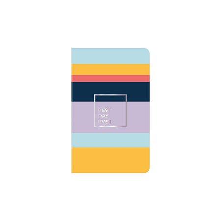 Caderneta Papertalk Slim Pautado Allegro Listras Ótima Gráfica 5125-9