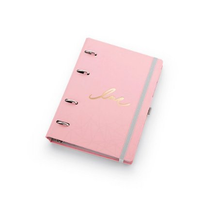 Planner Maxi Ótima Gráfica Caderno Organizador Pink Stone Geométrico + Roll Notes 4527-2