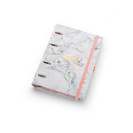 Planner Maxi Ótima Gráfica Caderno Organizador Pink Stone Mármore 4526-5