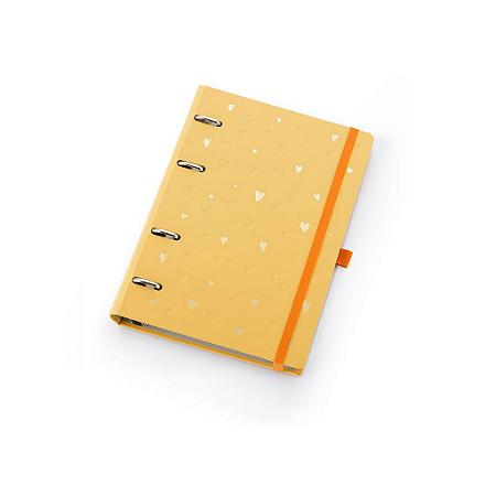 Planner Maxi Ótima Gráfica Caderno Organizador Romantic Amarelo  4411-4
