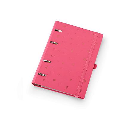 Planner Maxi Ótima Gráfica Caderno Organizador Romantic Rosa + Roll Notes 4408-4