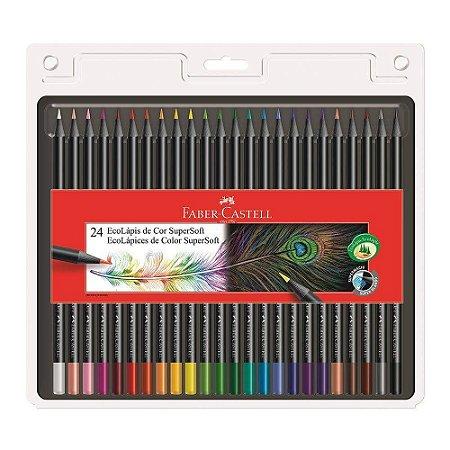 Lápis de Cor Faber Castell 24 Cores Supersoft