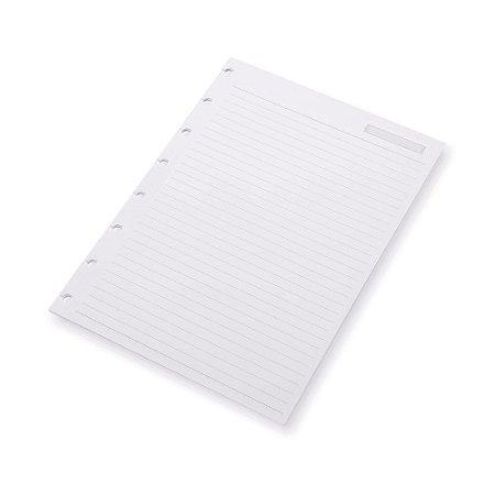 Refil Planner SystemFlex Maxi Pautado Ótima Gráfica 6020-6