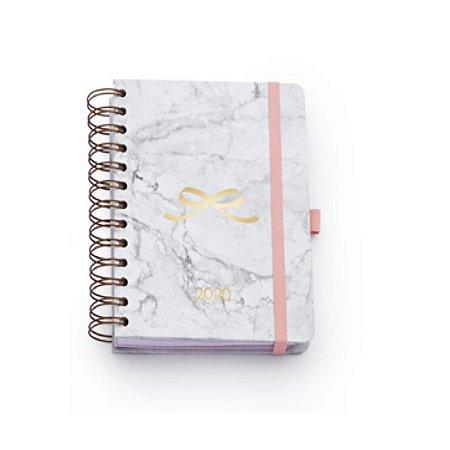 Agenda 2020 Ótima Gráfica Pink Stone Midi Mármore 6036-7