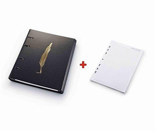 Caderno Argolado Ótima Pena 4634-7 + Refil Pautado 50 folhas 4686-6