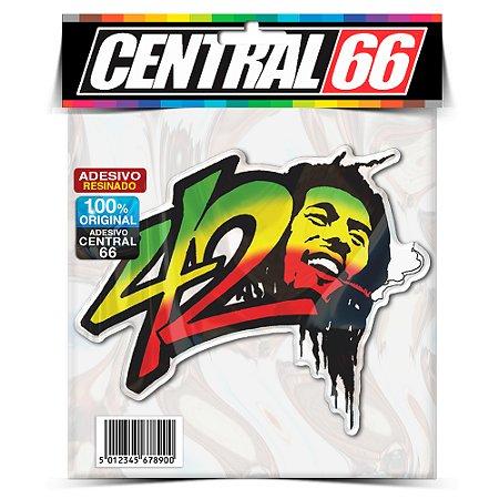 Adesivo Resinado Bob Marley - 4:20 cabeça