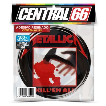 Adesivo Resinado Redondo Metallica - Kill em all