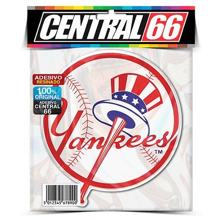 Adesivo Resinado Redondo Time - Yankees (Americano)