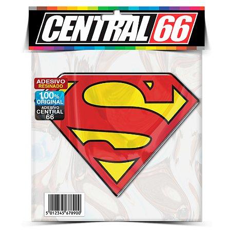 Adesivo Resinado Superman (S Vermelho Fundo Amarelo)