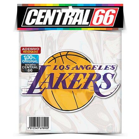 Adesivo Resinado Time - Lakers Amarelo