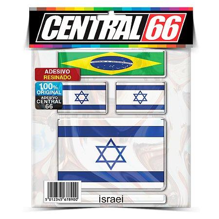 Kit Adesivos Bandeiras Israel Resinado