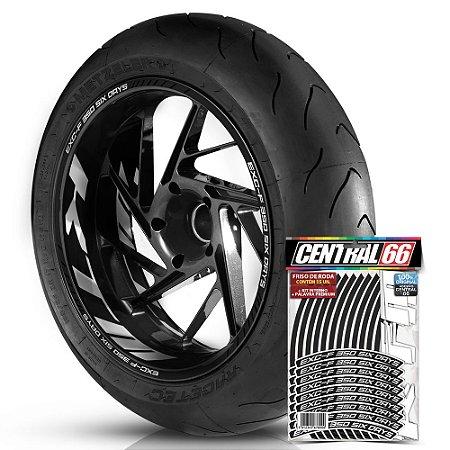 Adesivo Friso de Roda M1 +  Palavra EXC-F 350 SIX DAYS + Interno G KTM - Filete Preto